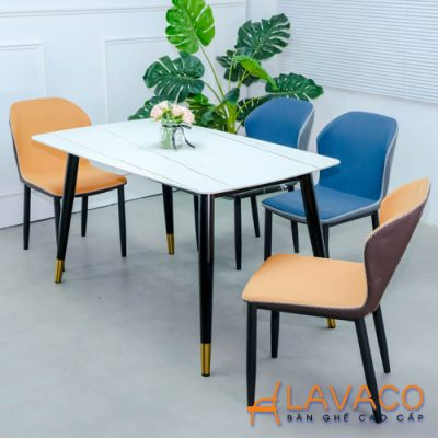 Bộ bàn ăn 4 ghế mặt đá sang trọng
