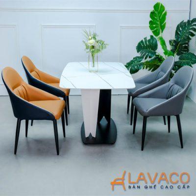 Bộ bàn ăn mặt đá 4 ghế cao cấp TPHCM