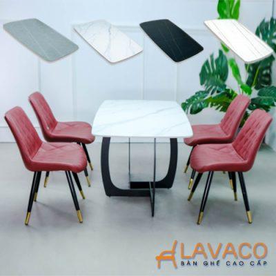 Bộ bàn ăn mặt đá 4 ghế hiện đại