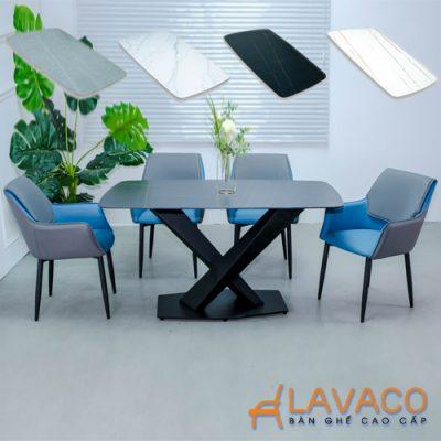 Bộ bàn ăn mặt đá 4 ghế hiện đại nhập khẩu