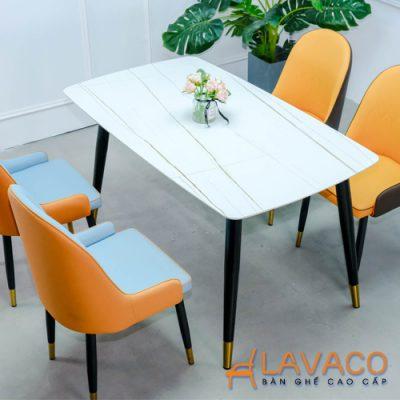 Bộ bàn ăn mặt đá 4 ghế nhập khẩu