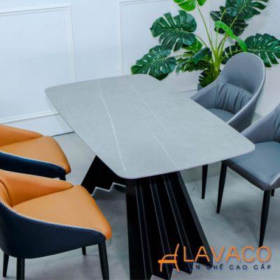 Bộ bàn ăn mặt đá 4 ghế nhập khẩu cao cấp