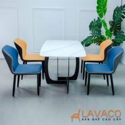 Bộ bàn ăn mặt đá 4 ghế nhập khẩu hiện đại