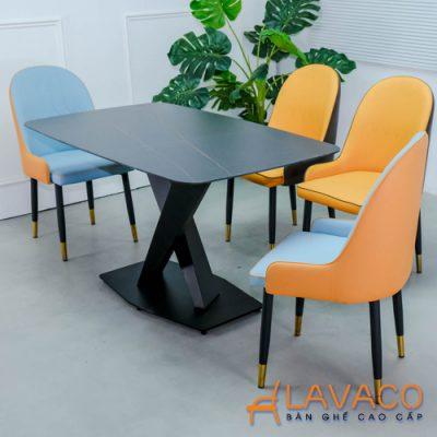 Bộ bàn ăn mặt đá 4 ghế sang trọng