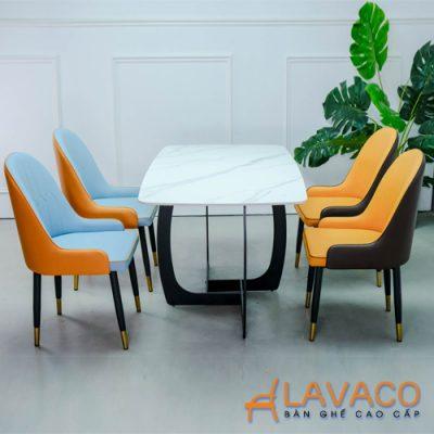 Bộ bàn ăn mặt đá 4 ghế sang trọng hiện đại