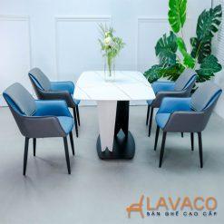 Bộ bàn ăn mặt đá 4 ghế sang trọng nhập khẩu