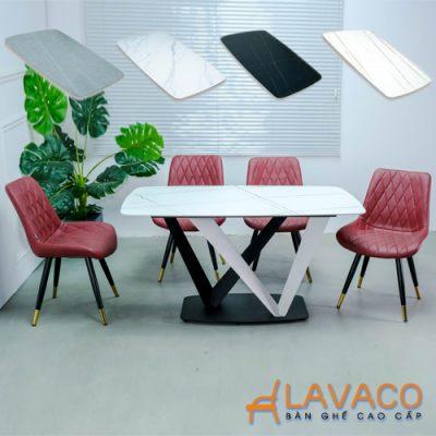 Bộ bàn ghế ăn mặt đá 4 ghế cao cấp