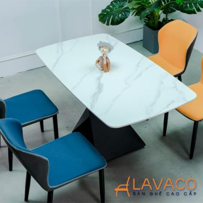 Bộ bàn phòng ăn 4 ghế mặt đá cao cấp