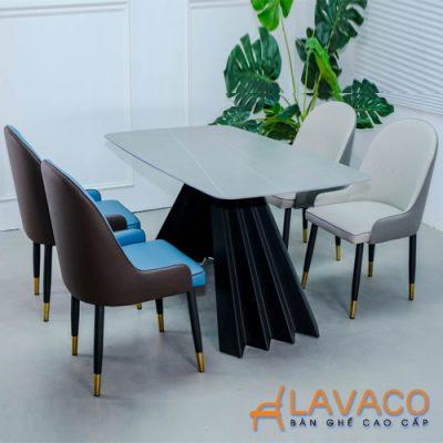 Bộ bàn phòng ăn mặt đá 4 ghế sang trọng