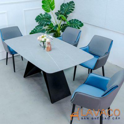 Bộ bàn ăn 4 ghế mặt đá nhập khẩu cao cấp