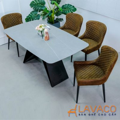 Bộ bàn ăn 4 ghế mặt đá sang trọng nhập khẩu
