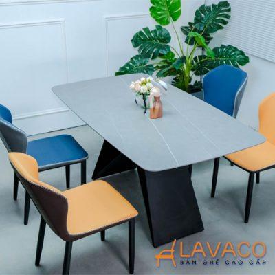 Bộ bàn ghế ăn mặt đá nhập khẩu hiện đại