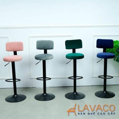 Ghế quầy bar chân trụ nâng hạ hiện đại