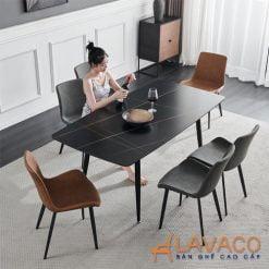 Bộ bàn ăn mặt đá 6 ghế nhập khẩu