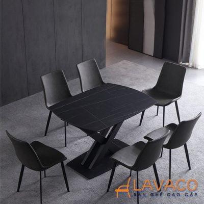 Bộ bàn ăn thông minh gấp gọn 6 ghế