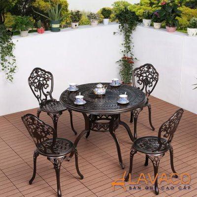 Bộ bàn ghế ban công sân vườn biệt thự