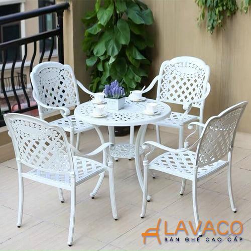 Bộ bàn ghế sân vườn nhôm đúc cao cấp