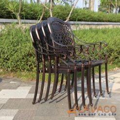 Ghế sân vườn nhôm đúc sang trọng
