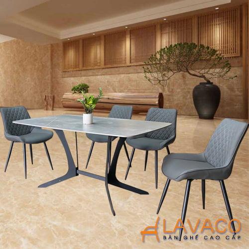 Bộ bàn ăn 4 ghế mặt đá cao cấp