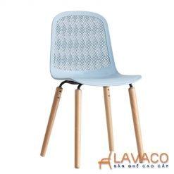 Ghế nhựa chân gỗ hiện đại