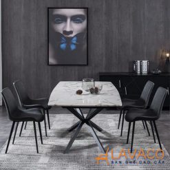 Bộ bàn ăn 4 ghế bọc da