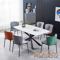 Bộ bàn ăn 6 ghế mặt đá nhập khẩu