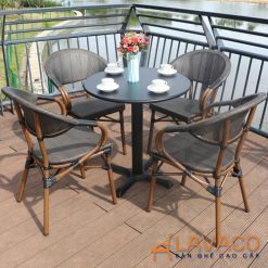 Bộ bàn ghế cafe sân vườn 4 ghế