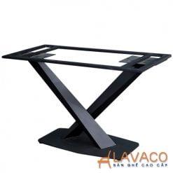 Chân bàn ăn chữ X sắt sơn tĩnh điện