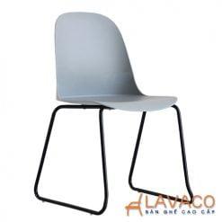 Ghế ăn hiện đại lưng nhựa chân thép