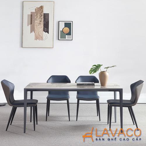Bộ bàn ăn 4 ghế mặt đá hiện đại