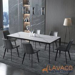 Bộ bàn ăn 6 ghế hiện đại mặt đá