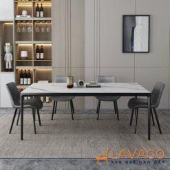 Bộ bàn ăn mặt đá 1m4 4 ghế