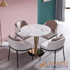 Bộ bàn tròn 4 ghế tiếp khách sang trọng